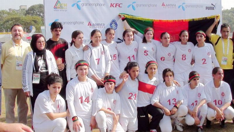 Hailai Arghandiwal, No. 8, has lived all her life in California but played in two international tournaments with the Afghan team, an opportunity born of her dual citizenship.