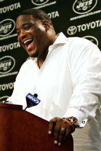 Damien Woody, who retired in 2011, has a plan to get down to 265 pounds by July 4.