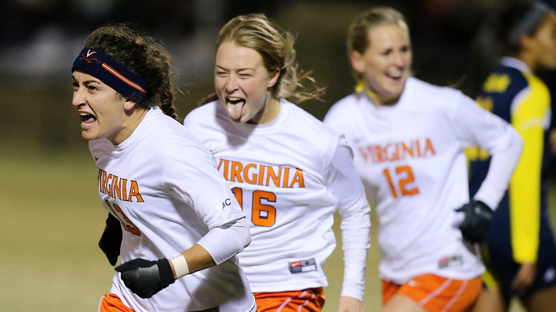 Virginia lost a lead for the first time in the tournament, but Molly Menchel took care of that with a goal in the 68th minute.