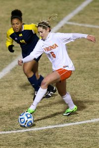 Junior All-American Morgan Brian scored the first goal of the game for Virginia.