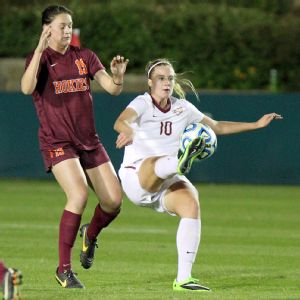 Berglind Thorvaldsdottir, (19). The Florida State University Seminoles played the Virginia Tech