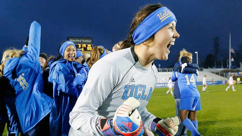 Was anyone more excited about UCLA's win than goalie Katelyn Rowland?