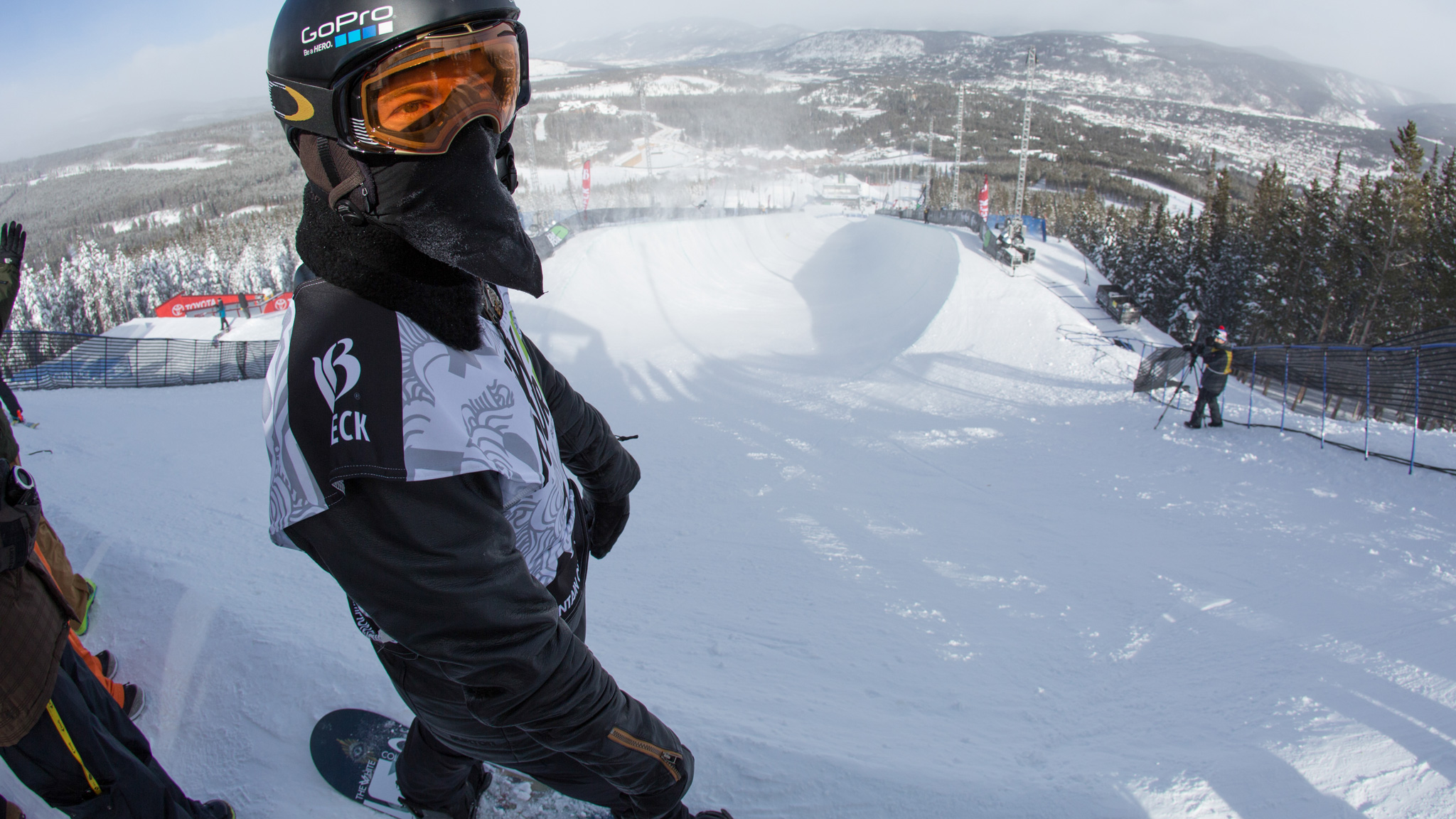 Shaun White, pictured here during practice earlier this week, qualified first in Thursday's halfpipe competition at the Breckenridge Dew Tour.