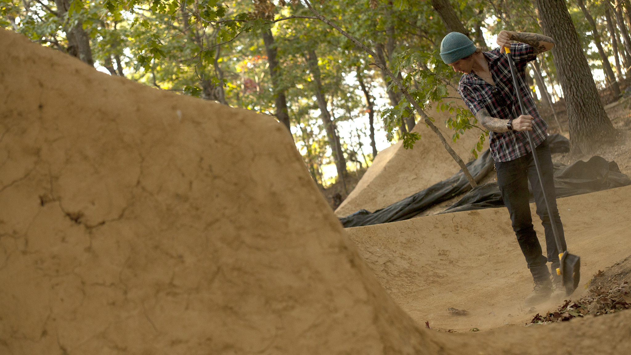 Brian Kaminski, digging at the Boondock Trails in Long Island, N.Y.
