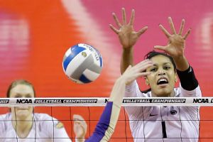 Ariel Scott and Penn State dominated in the semifinals, sweeping Washington.