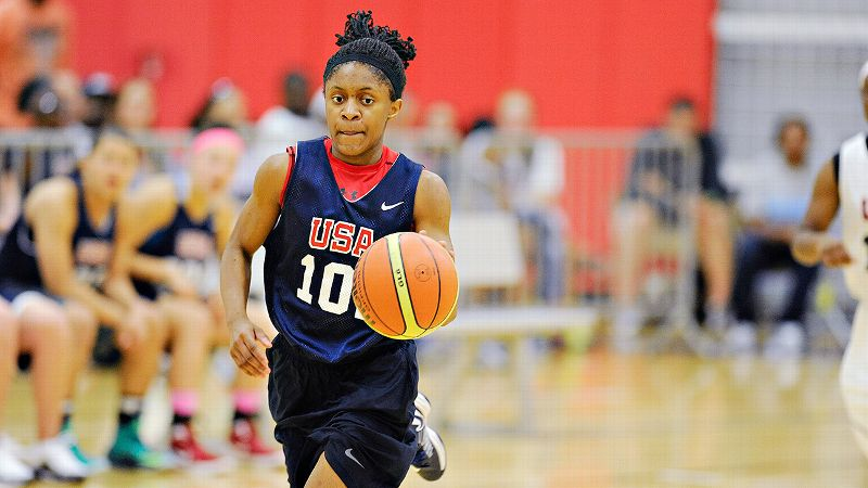 Crystal Dangerfield averaged 7 points per game and helped lead Team USA to the gold medal at the 2013 FIBA Americas U16 Championship.
