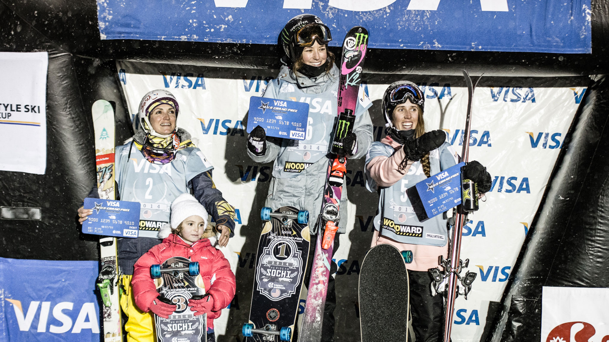 Women's Halfpipe Podium