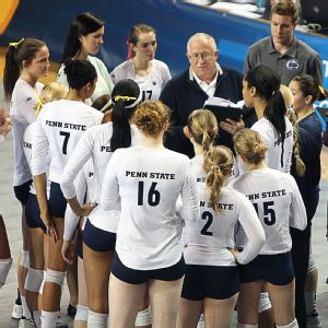 Russ Rose, in his 36th season leading Penn State, isn't cutting his inexperienced team any slack.