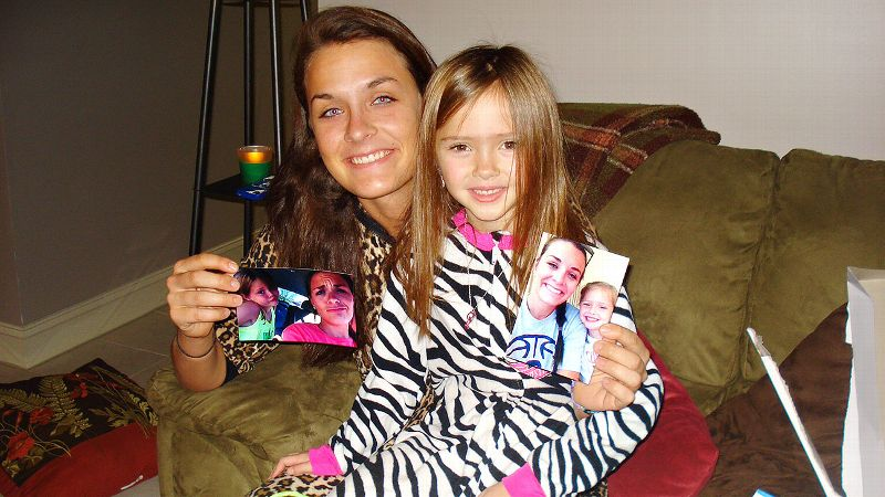 Becca Greenwell especially enjoyed her gift from little sister Emma: pictures of the two of them together.