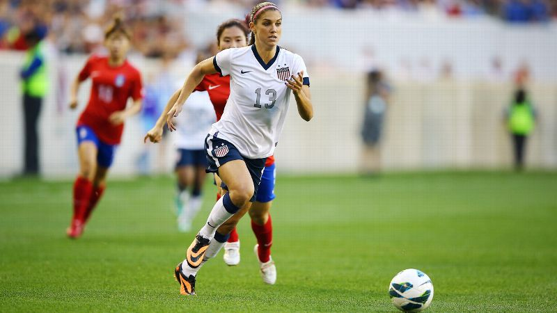 While many athletes refuse to wear No. 13 for fear it will bring bad luck, U.S soccer star Alex Morgan has made it her lucky number. To further ensure her on-field success, she also rolls her shorts one time, leaves her jersey untucked and puts her right sock on first.