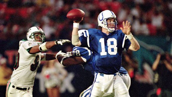 Manning's Colts lost in the first round the first three times he took them to the playoffs.