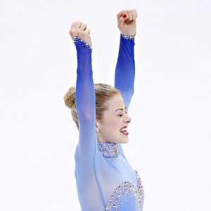 Gracie Gold won her first U.S. figure skating title, making her a near-lock to be on the Olympic team.