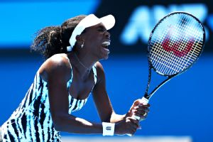 Venus Williams lost in the first round at the Australian Open for only the second time.