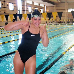 Sasha Menu Courey was a highly recruited Canadian swimmer who chose to complete at Missouri in 2009.