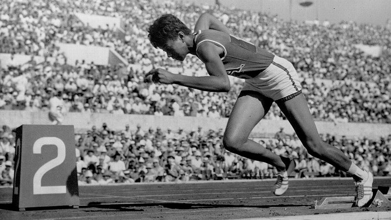 Wilma Rudolph's graceful and effortless running style helped her win three gold medals on the Olympic track in Rome.