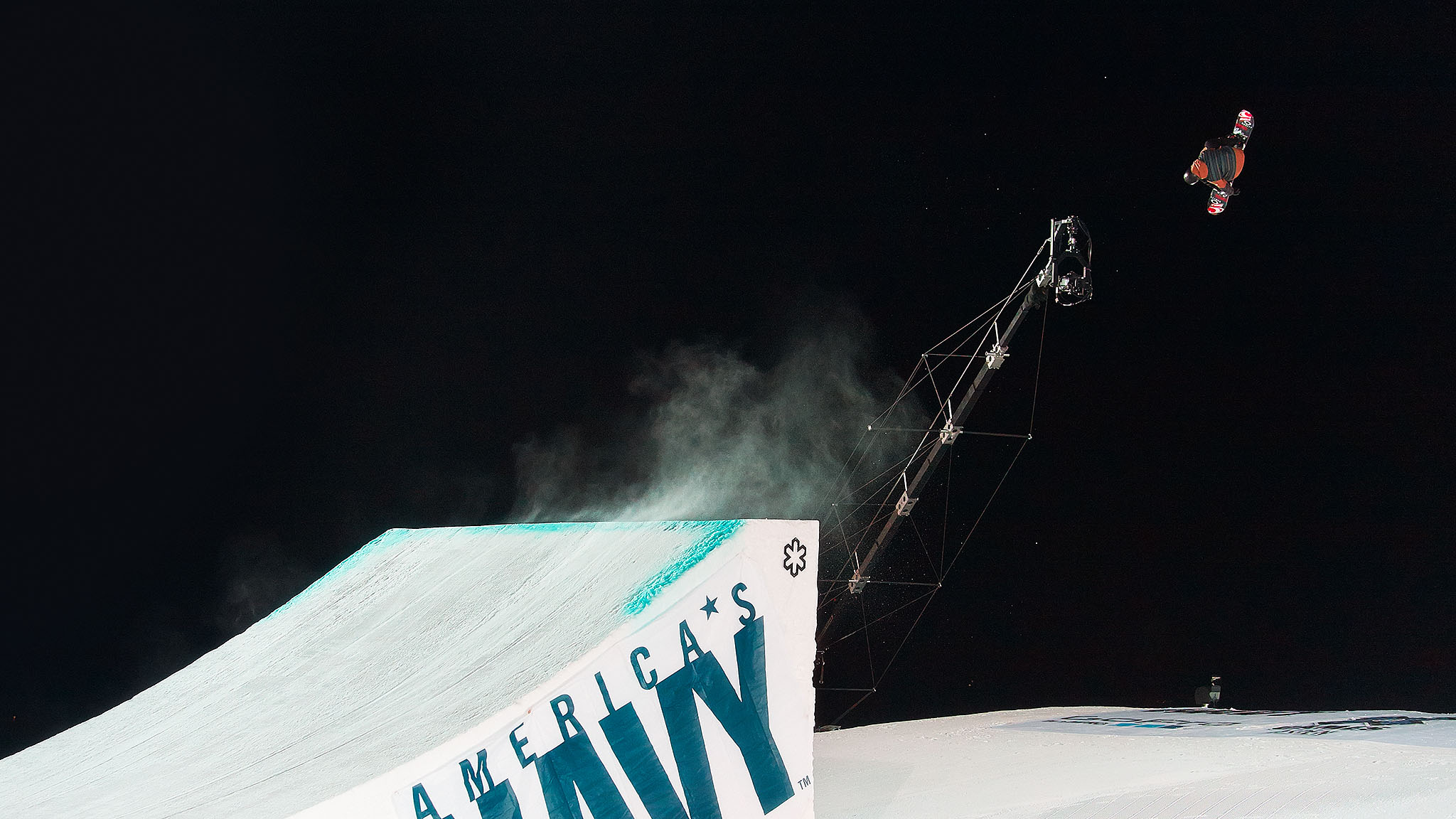 Max Parrot rode to victory in Snowboard Big Air on Friday.