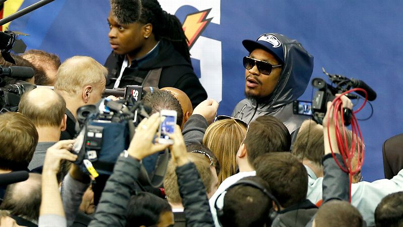Seahawks RB Marshawn Lynch doesnt like speaking to the media. This isnt exactly a new revelation. The quiet star was fined earlier in the season for his refusal to talk to reporters. And yet for some reason, his lack of enthusiasm at media day made national headlines. What exactly is wrong with a football player choosing to focus on the game and not on the circus surrounding the Super Bowl? Despite hearing hours of debate on the topic, we still have no idea. (Photo: Perry Knotts/AP)