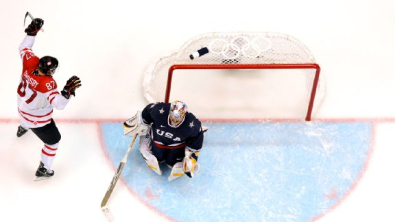 Sidney Crosby says he never really looked at the net when he scored the golden goal.
