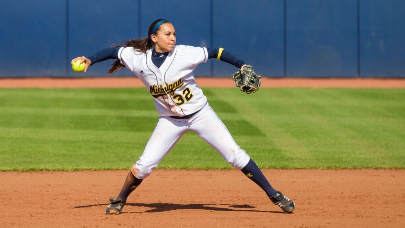 This was the hardest position to settle because college softball is stocked with gifted shortstops. Michigan coach Carol Hutchins only half-jokingly suggested Romero could hit in the Detroit Tigers' lineup; she posted an .841 slugging percentage and .527 on-base percentage as a freshman. She made too many errors, but she has great range and a strong arm. (bSecond team:/b Kaila Hunt, Alabama) iPhoto by Michigan Photography/i