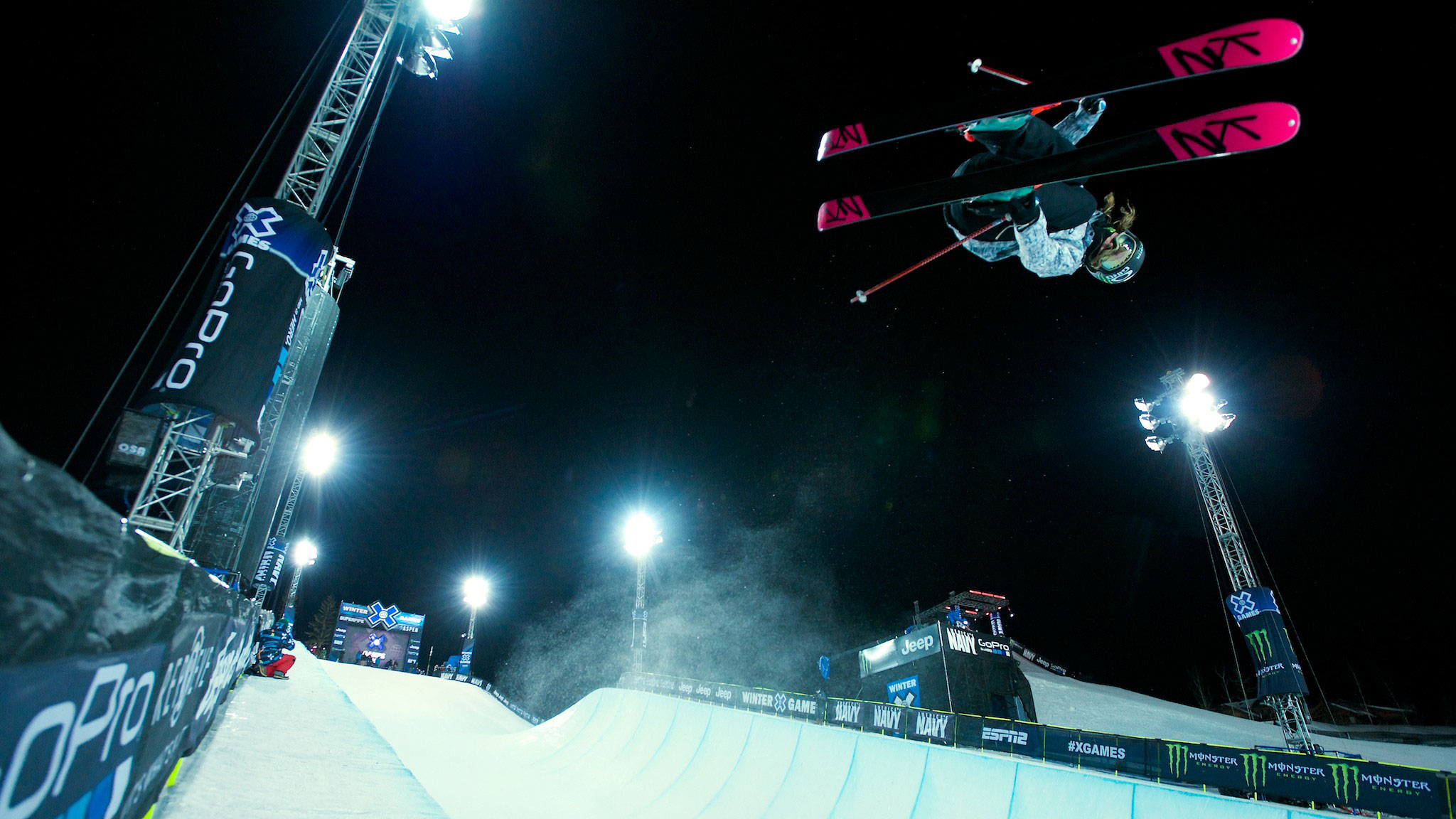 Brita Sigourney placed fifth in women's Ski SuperPipe at X Games Aspen 2014.