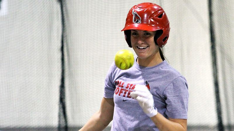 The cold weather in Muncie, Ind., means Ball State's Jenny Gilbert has become used to indoor workouts.