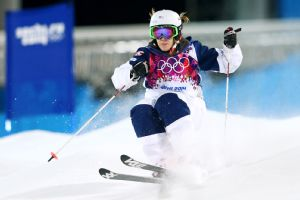 Hannah Kearney won bronze in Saturday's women's moguls event at the 2014 Sochi Olympics.