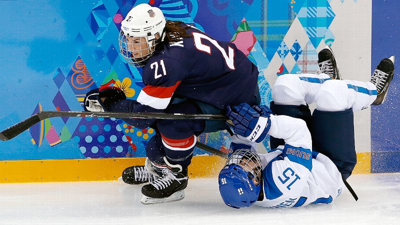 It took Hilary Knight all of 53 seconds to make an impact in Sochi. The Idaho resident had an early goal and a second-period assist in Team USA's 3-1 win over Finland. When you get a goal, especially in the first minute, it always deflates the other team, Knight said. i(Photo: AP)/i