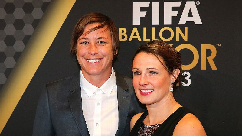 Abby Wambach and Sarah Huffman