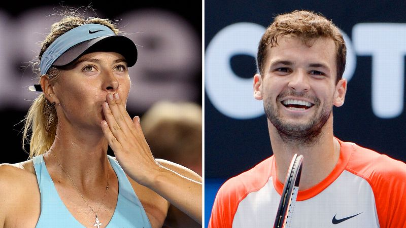 Tennis' latest and greatest happy couple is Maria Sharapova and Grigor Dimitrov. When their tours collide, Sharapova, currently ranked fifth in the world, and Dimitrov, ranked 19th, have been known to wear their hearts on their sleeves in the stands. With just four Grand Slam titles between them (all contributed by Sharapova), they have a long way to go to catch up with Andre Agassi and Steffi Graf. But what they're lacking in titles, they've already made up for in tabloid fodder; Dimitrov's rumored former flame Serena Williams had some less-than-flattering words about the couple last spring.