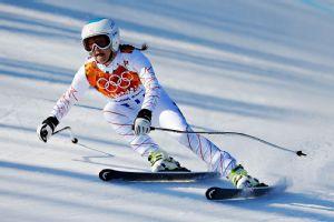 Julia Mancuso of the U.S. finished 8th in the women's super-G.