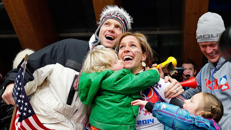 When Noelle Pikus-Pace won silver in Sochi, she leaped from the ice up into the stands, embracing her husband and children. It was a family victory.