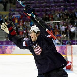 T.J. Oshie can't avoid all the attention he's garnered since an epic shootout against Russia.