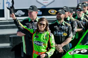 It was an entirely different scene for Danica Patrick last year, when she won the pole for the Daytona 500.