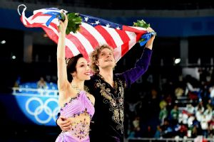 Meryl Davis and Charlie White scored 116.63 points in Monday's free dance to finish with 195.52 overall for the gold.