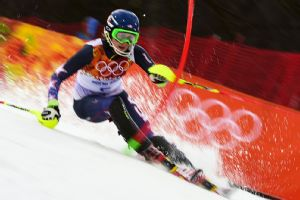 Mikaela Shiffrin, 18, won the women's slalom in 1 minute, 44.54 seconds -- 0.53 seconds clear of one of her childhood favorites, Austria's Marlies Schild.