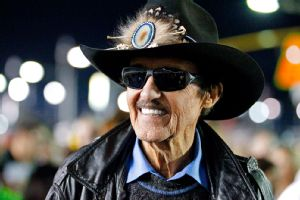 Richard Petty, responding to a challenge made by Tony Stewart, said he's ready to race Danica Patrick.
