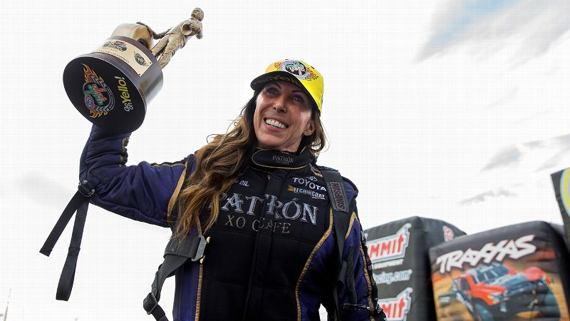 In five races this season, Alexis DeJoria has won twice and reached the finals three times.