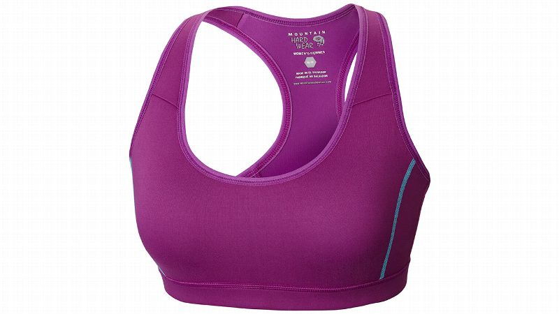 Mountain Hardwear offers a quick-drying, highly breathable option in the Mighty Power Cooler Bra. The medium-impact bra has cooling panels in the highest sweat zones that will provide heat relief when you're working hard. Part of a line of cooling garments from Mountain Hardwear, this is a great solution for hot days.
