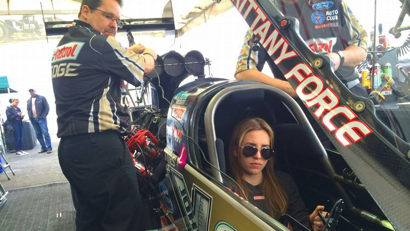 Brittany Force was afraid she'd be nervous before her first final round, but instead felt only excitement.