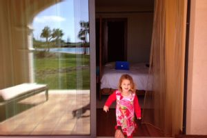 Christie Rampone is sharing a hotel room in Portugal with her younger daughter, Reece.
