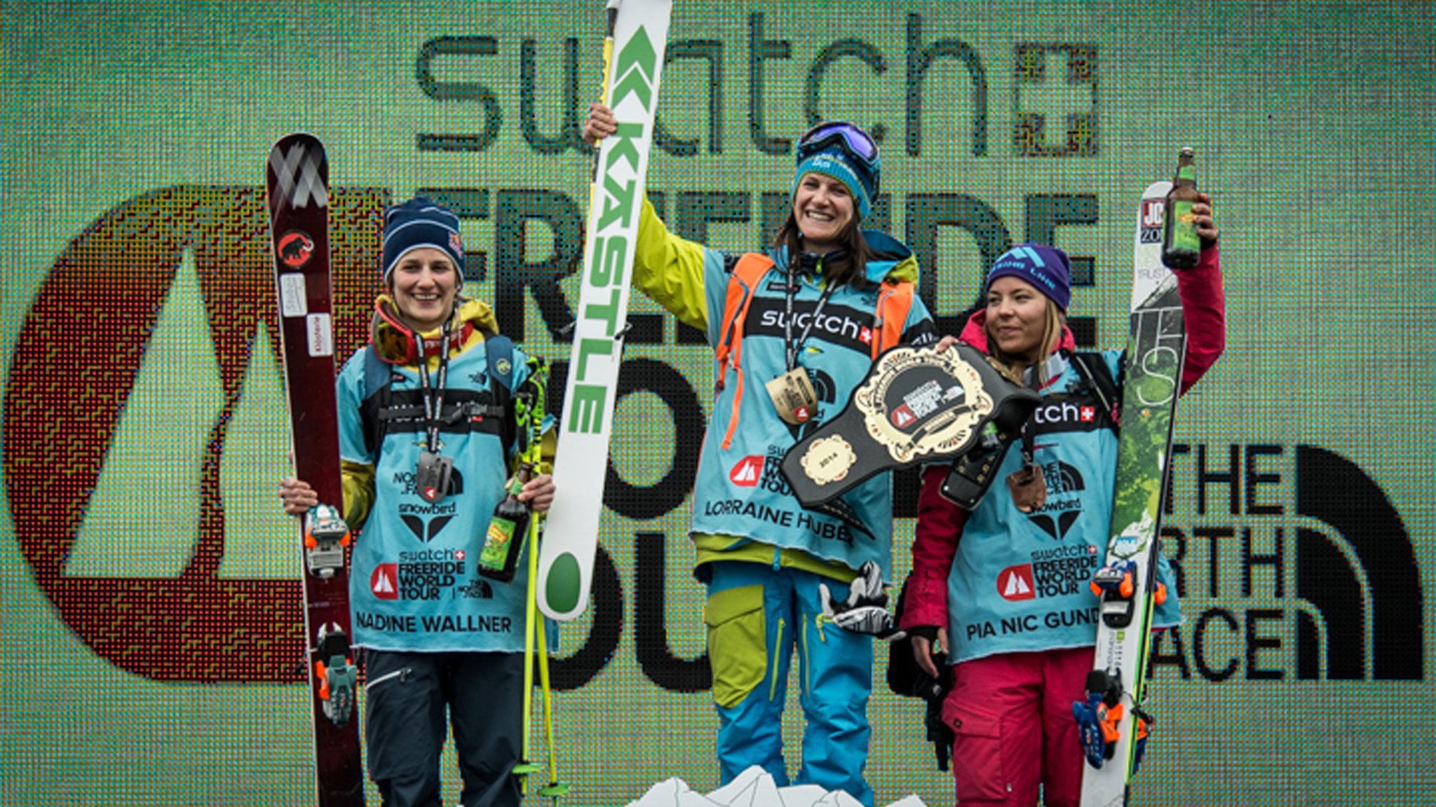 Women's Ski Podium