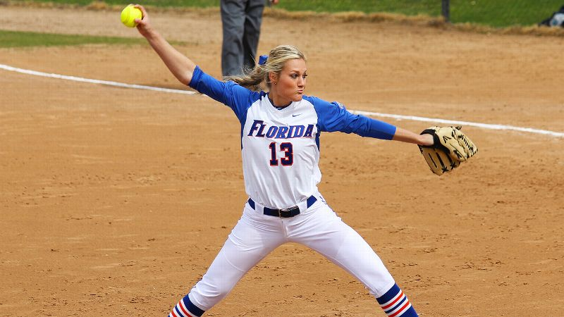 Florida senior pitcher Hannah Rogers beat Oregon this past weekend and is 9-0 with a 0.98 ERA this season.