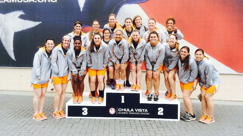 While in San Diego, the Tennessee softball team visited the Olympic Training Center.