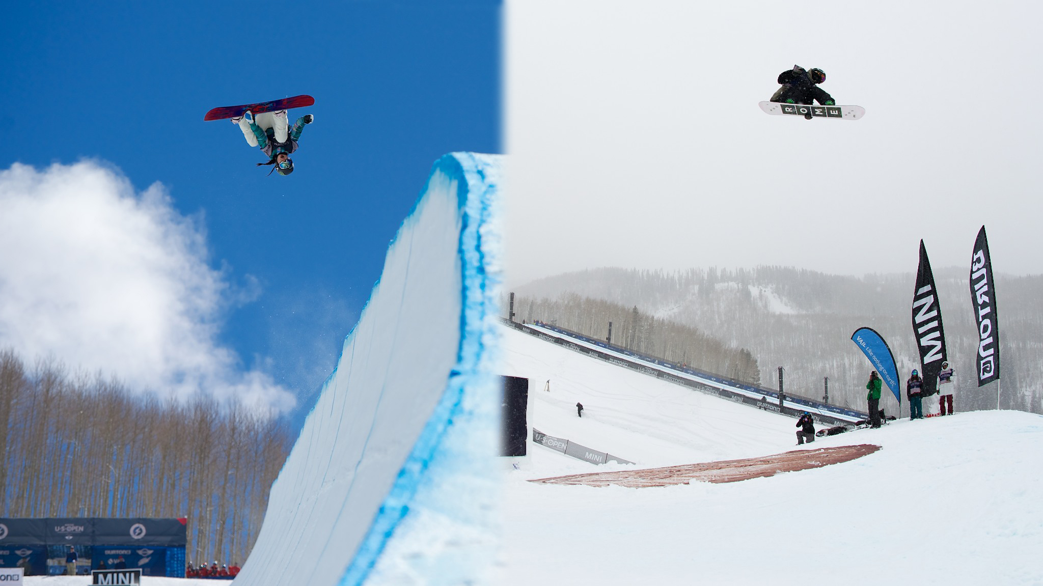 Chloe Kim (left) and Stle Sandbech are two of the small handful of riders who compete in multiple disciplines on the World Snowboard Tour. They were awarded the 2014 TTR World Snowboard Tour Overall champion titles for their efforts.