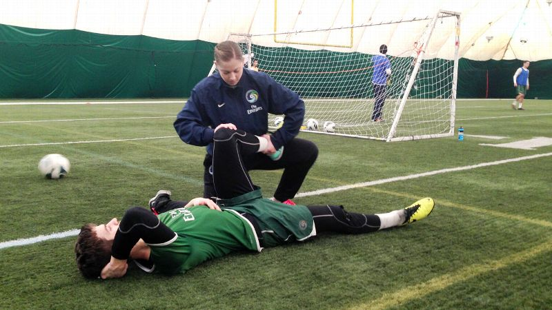 Alyssa Alpert, 26, is the head athletic trainer for the New York Cosmos.