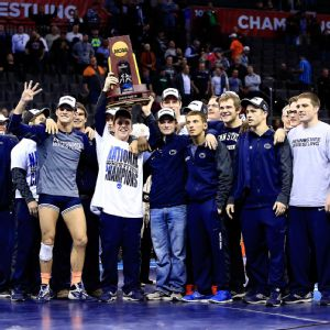 Penn State crowned two individual champions as the team captured its fourth straight NCAA team title.