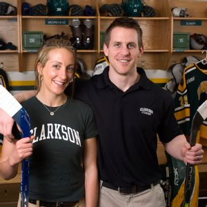 Shannon and Matt Desrosiers say one of their secrets to success is being all business when they're at the rink.