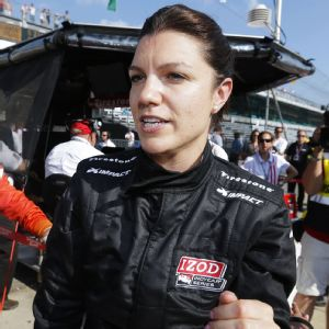 Former IndyCar driver Katherine Legge now drives for Delta Wing in the United SportsCar championship.