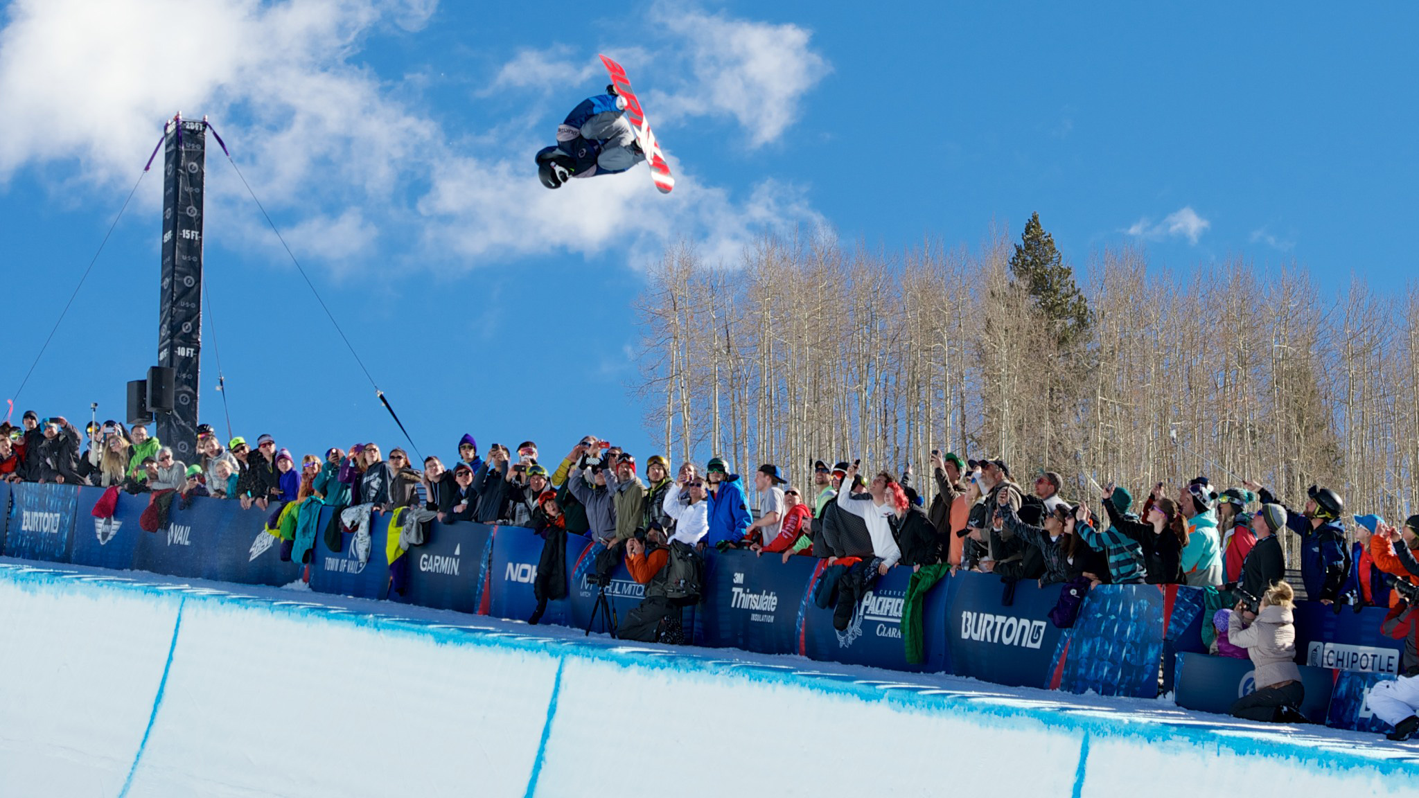 Zhang finished the semifinal halfpipe round at the 2014 Burton U.S. Open in a dominating and impressive first position.
