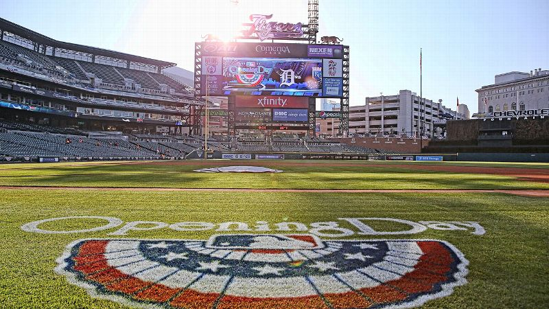 Monday's Opening Day games, such as in Detroit, will actually take place on the fourth day of competition this season.